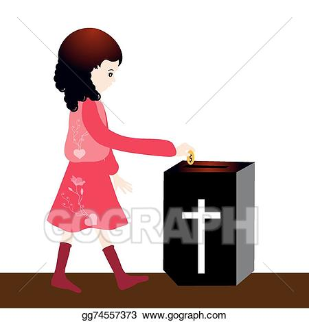 Vector stock offering clip. Communion clipart offertory