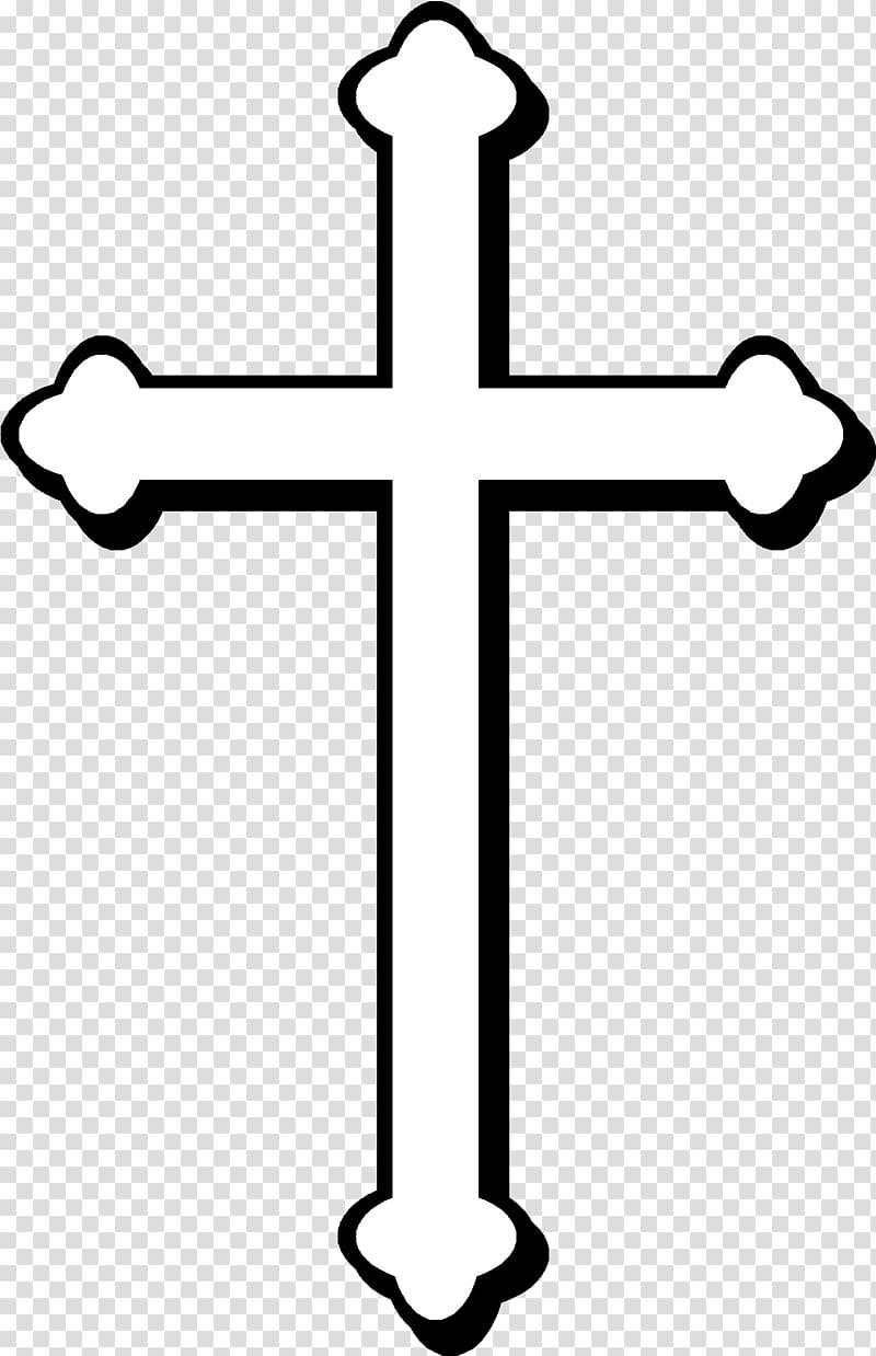 Crucifix clipart transparent background. White cross on black