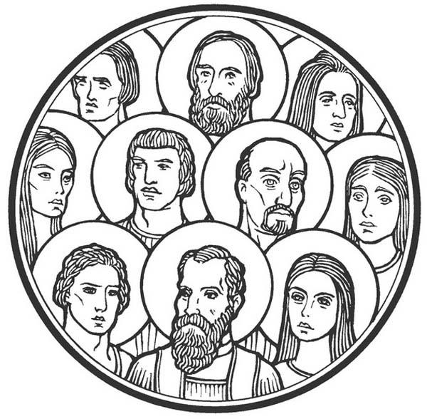 Of . Communion clipart saints