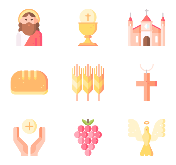 Png to vector illustrator. Communion icons free first