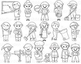 Helpers clip art . Community clipart black and white