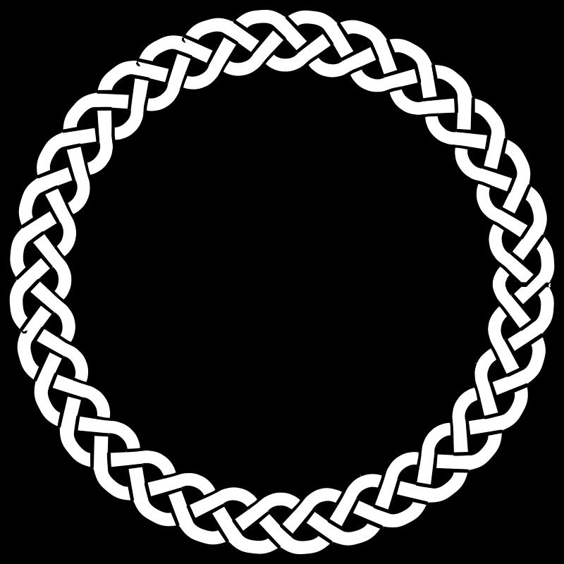 Monogram frame png. Free clip art plait