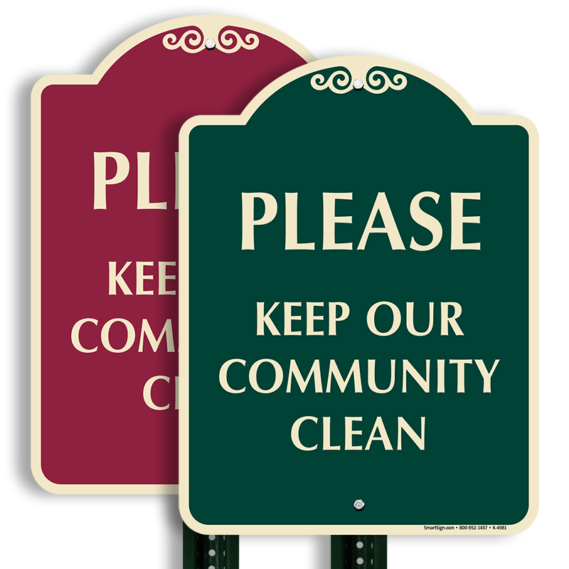 Community clipart clean community. Keep our sign signaturesign