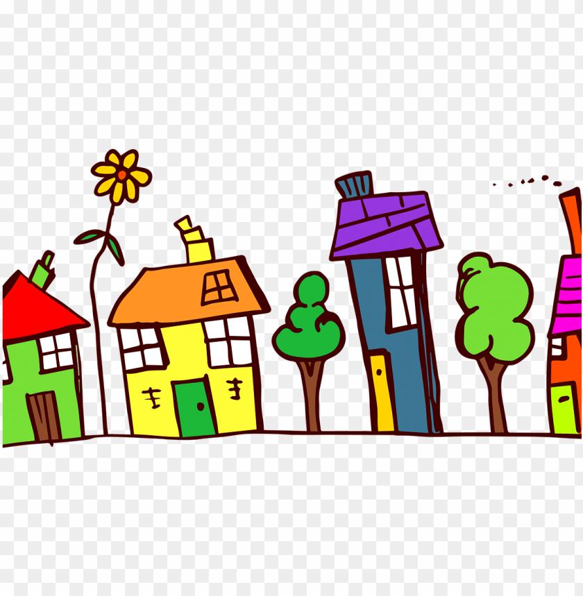 Neighborhood scavenger hunt . Community clipart community background