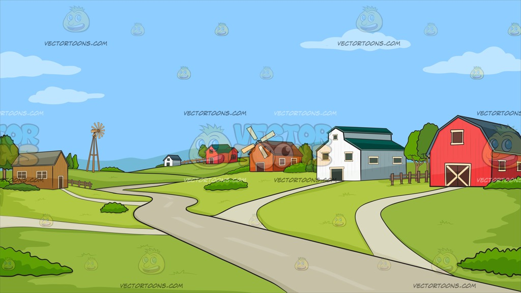 Community clipart community background. A rural farming station