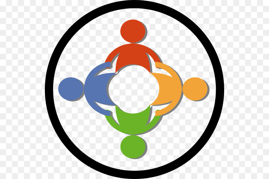 Community clipart community centre. Building cartoon circle transparent