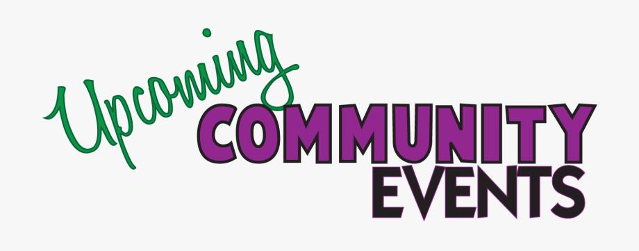 Community clipart community event. Upcoming events clip art