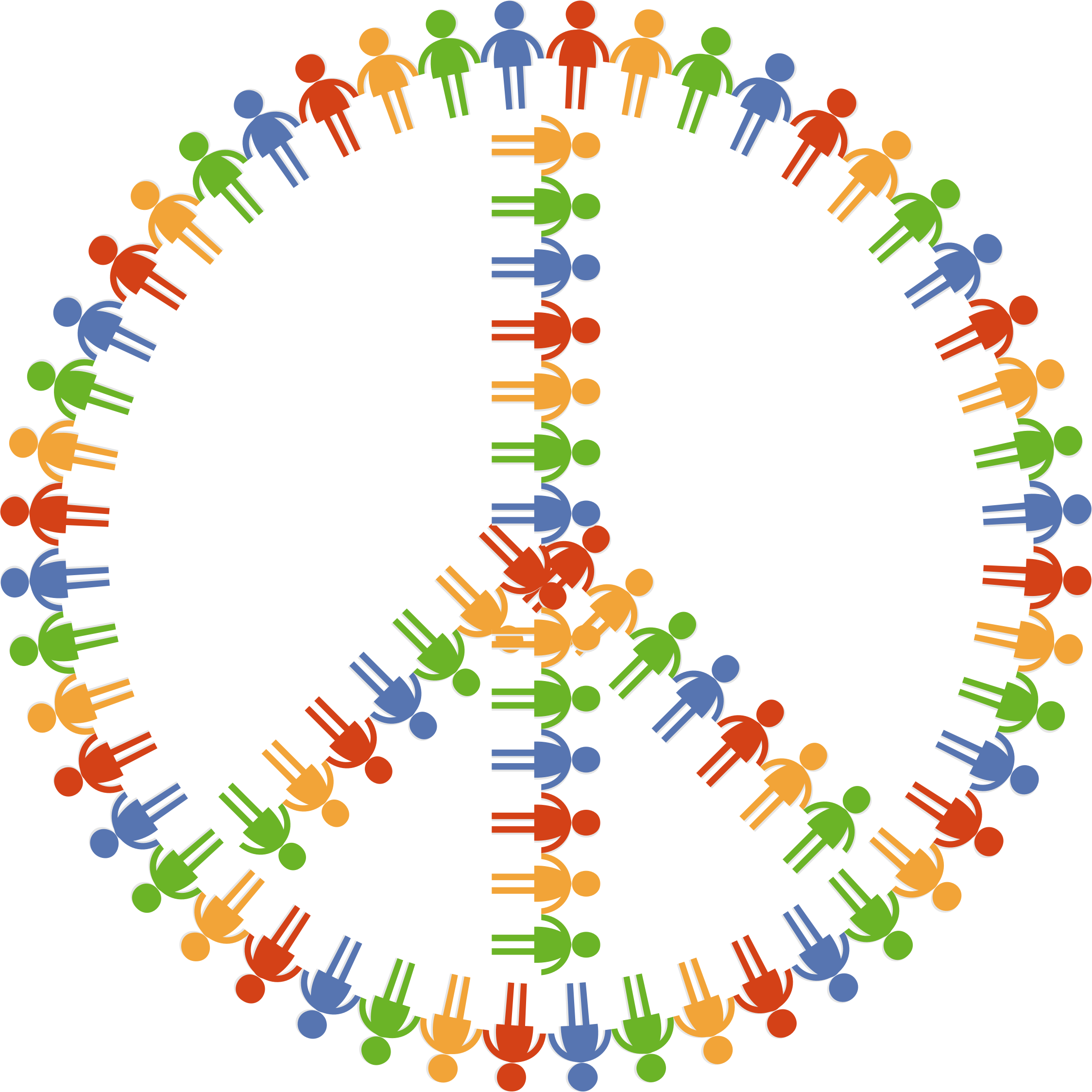 Group clipart community group. Peace sign big image