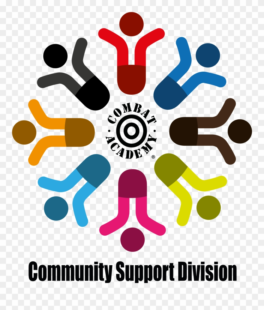 Community clipart community support. Combat academy division is