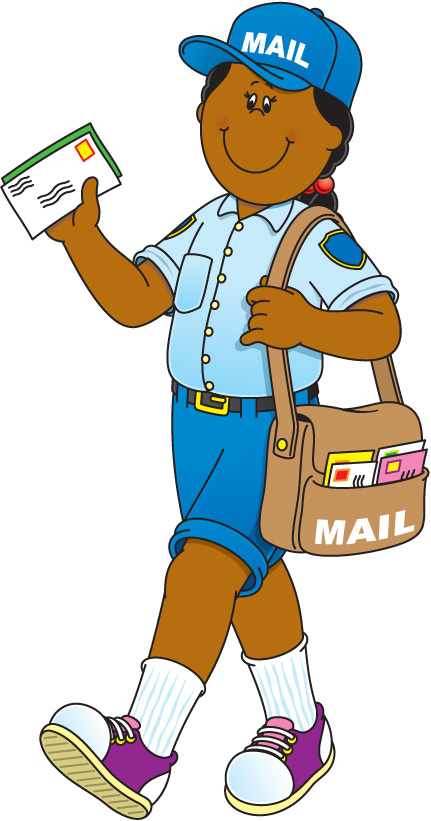 Free community workers cliparts. Mail clipart mail carrier
