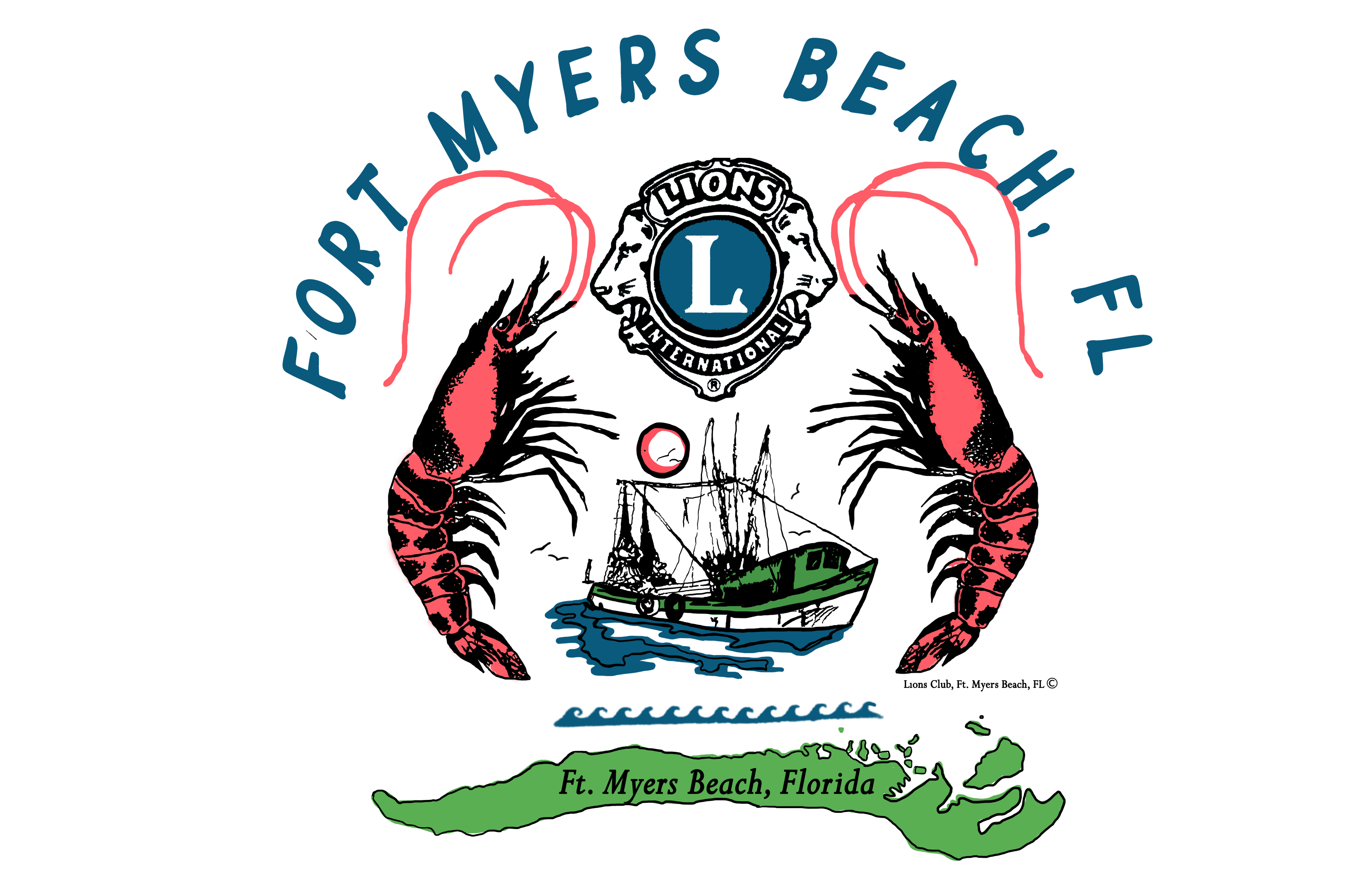 Community clipart local community. Fort myers beach shrimp