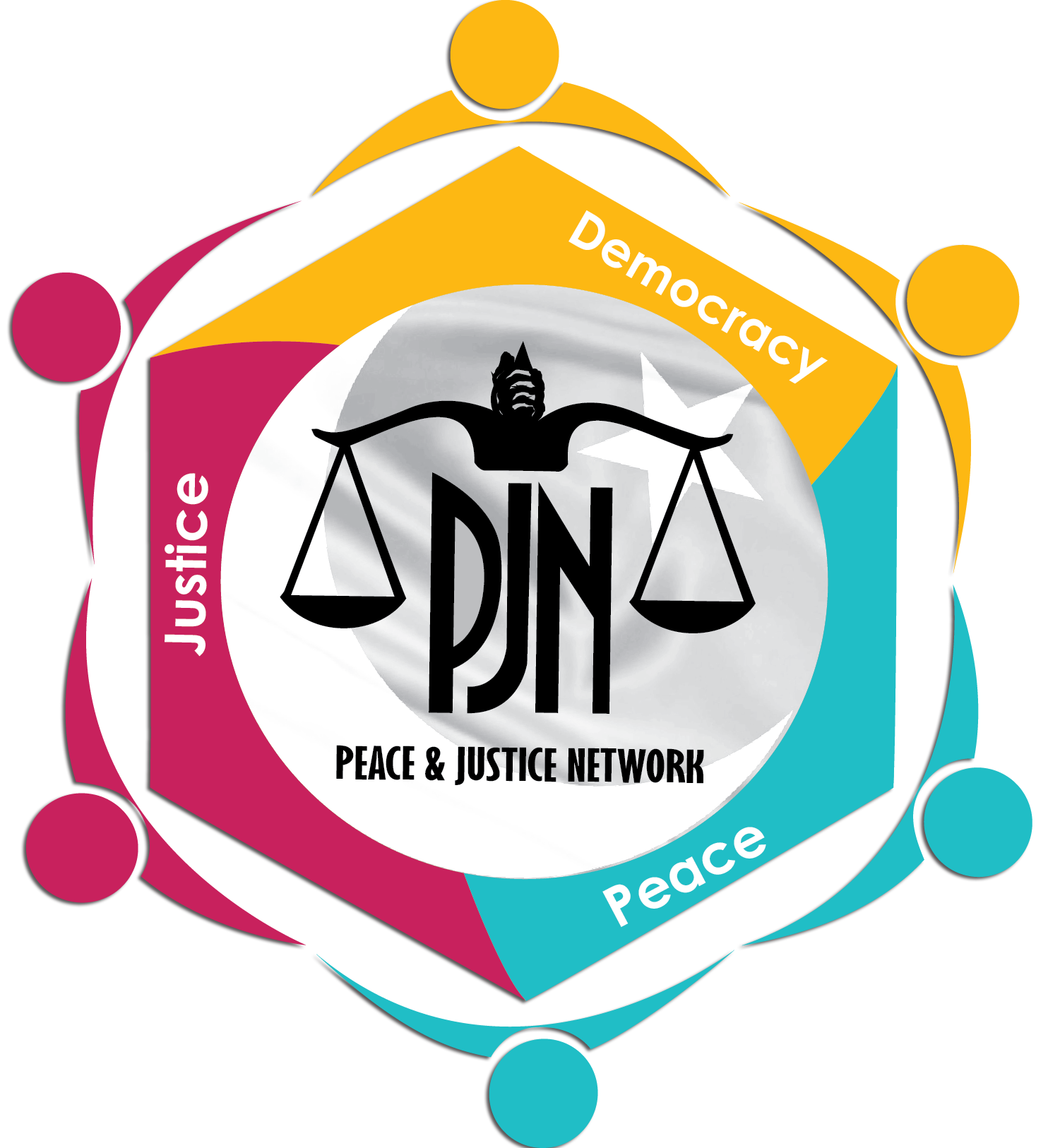 Pjn logo peace network. Justice clipart human right