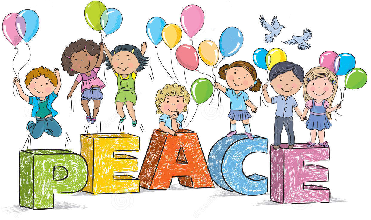 The peaceful planet peace. Mlk clipart child