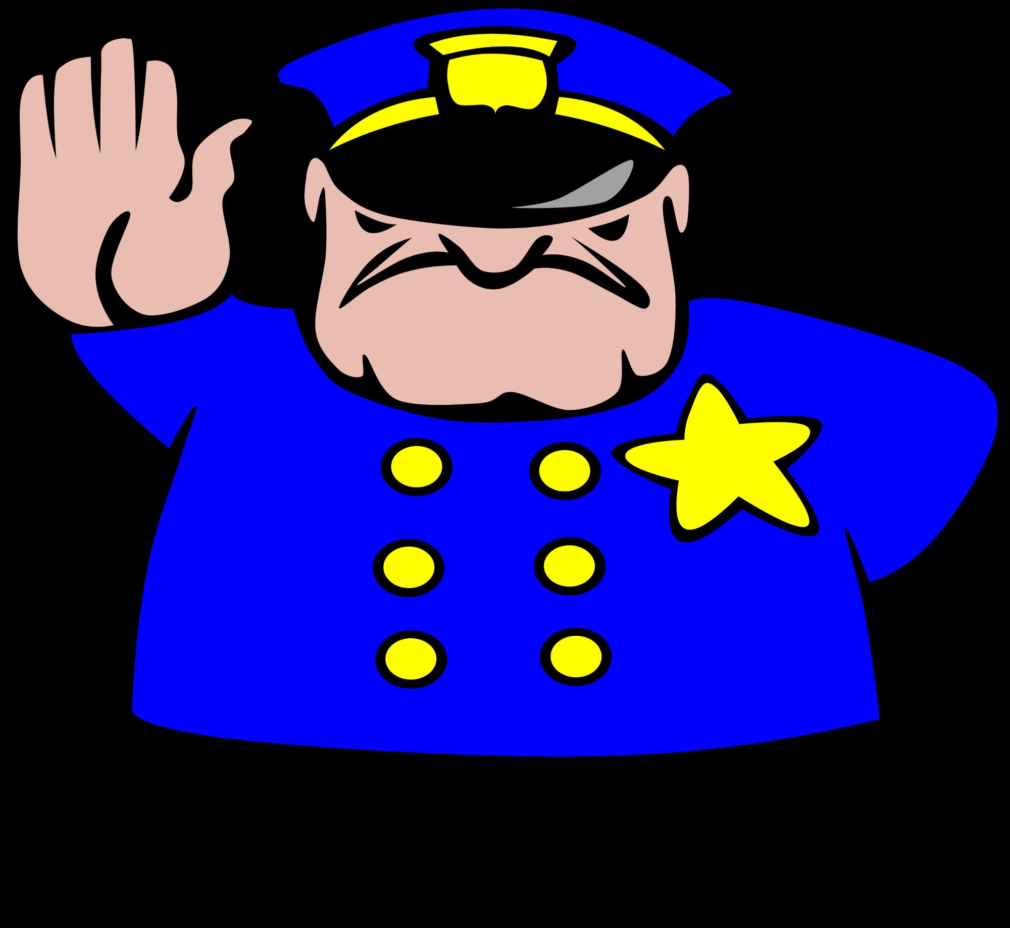 File police man ganson. Patient clipart svg
