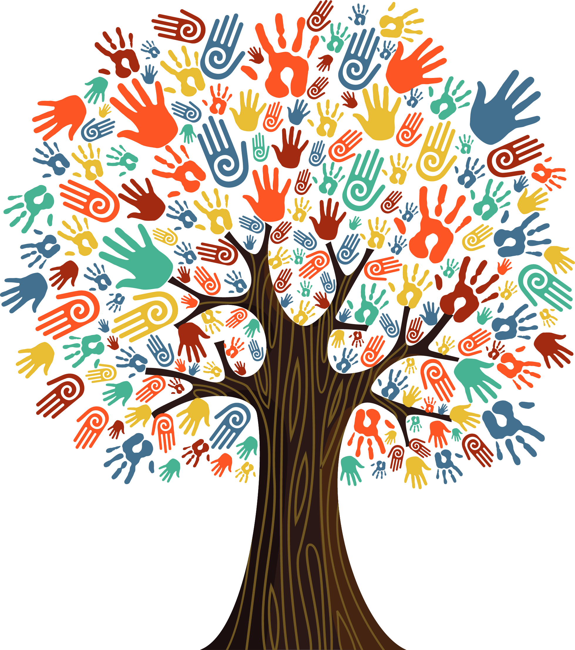 Charter on social responsibility. Handprint clipart 5 hand