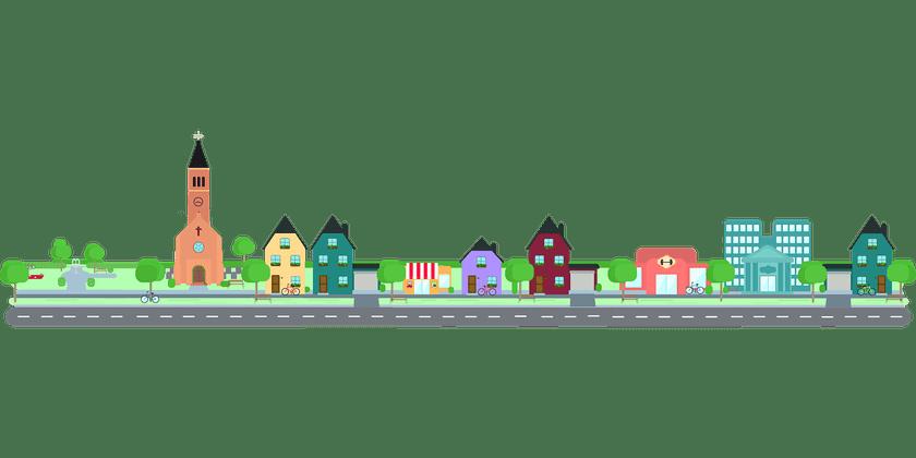 neighborhood clipart town