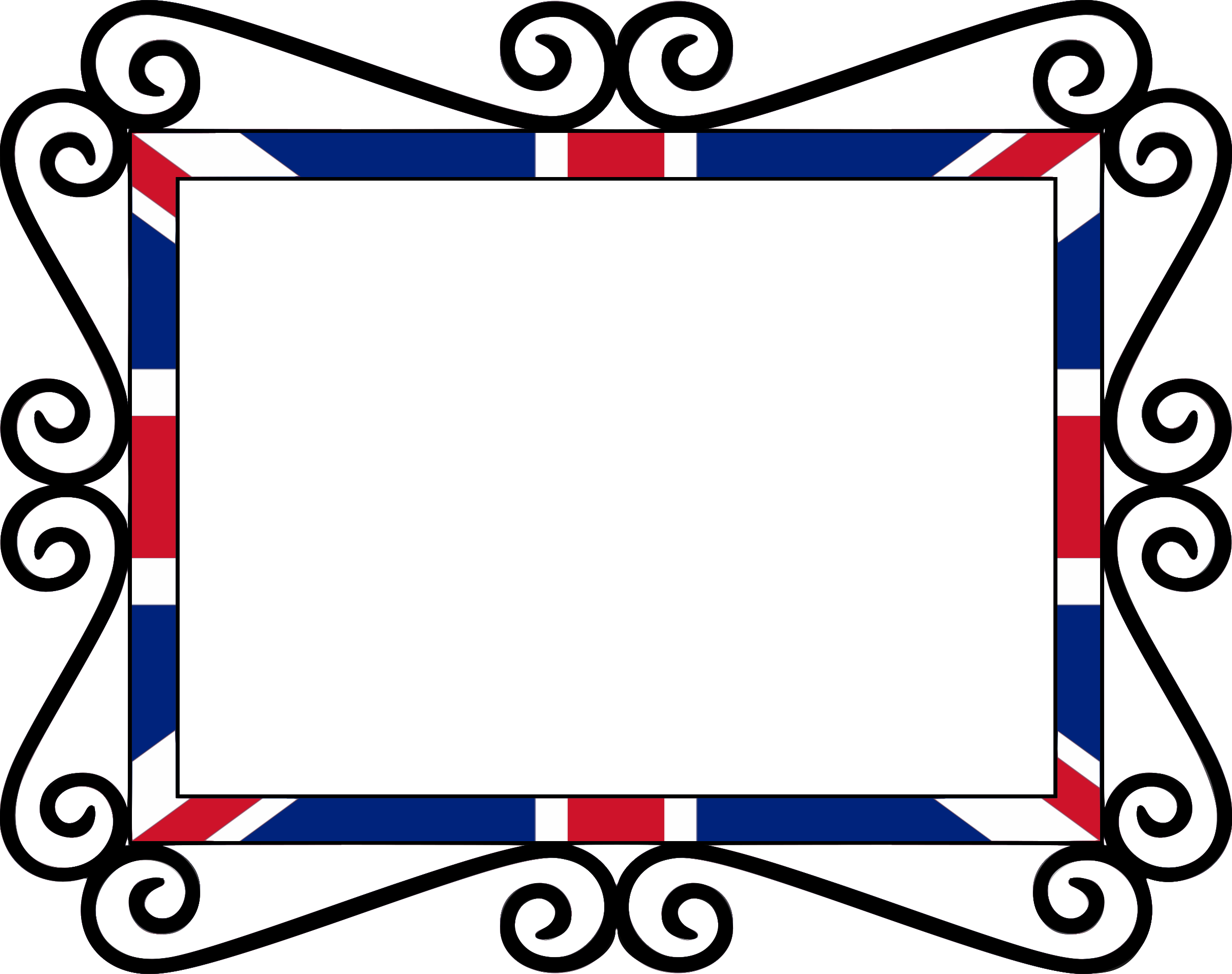 Uk union fixed icons. Flag clipart frame