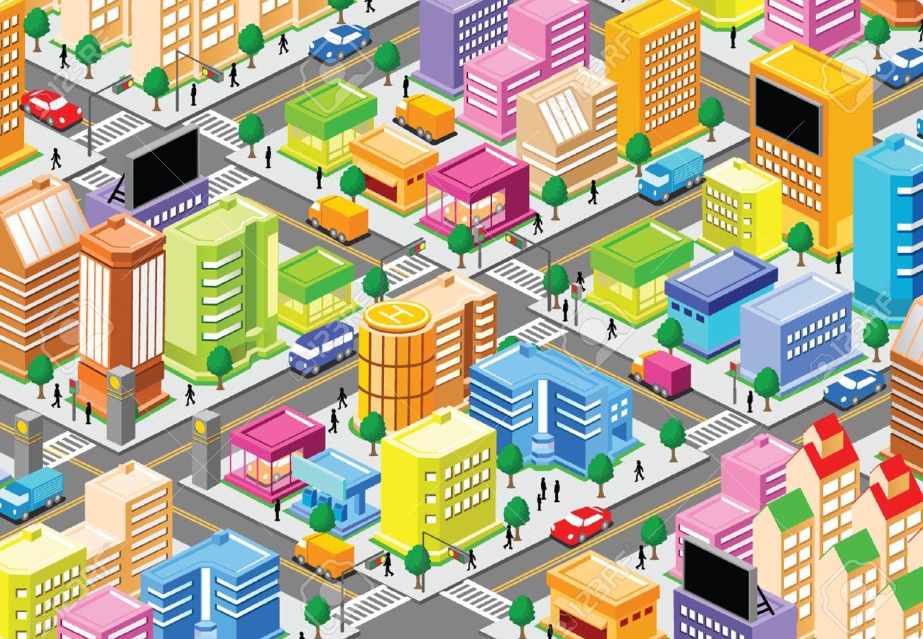 Community clipart urban. Station