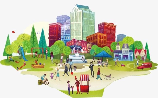 Portal . Community clipart urban