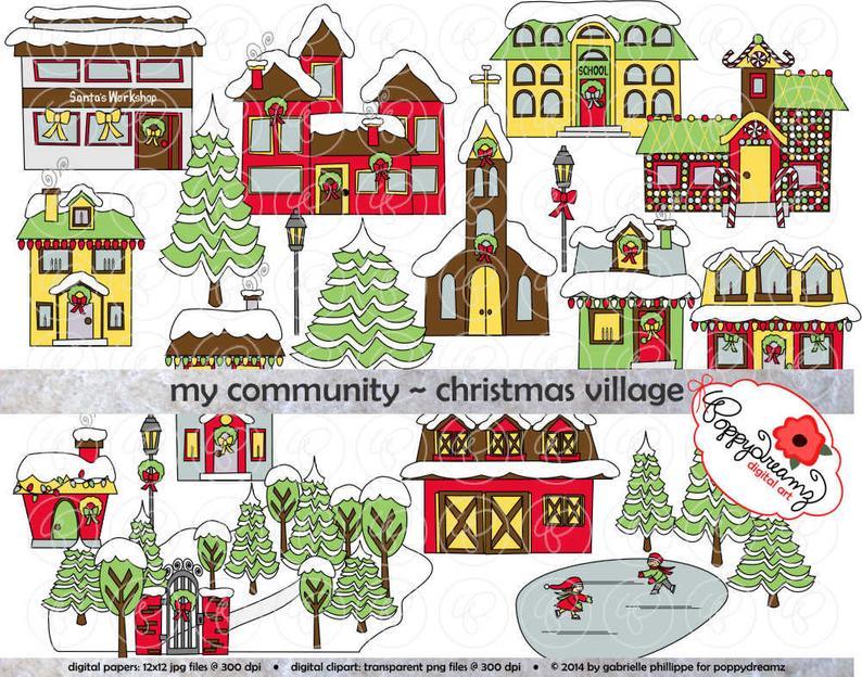 Community clipart village community. My christmas dpi transparent
