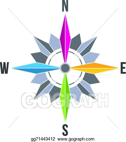 Compass clipart abstract. Vector stock rose image