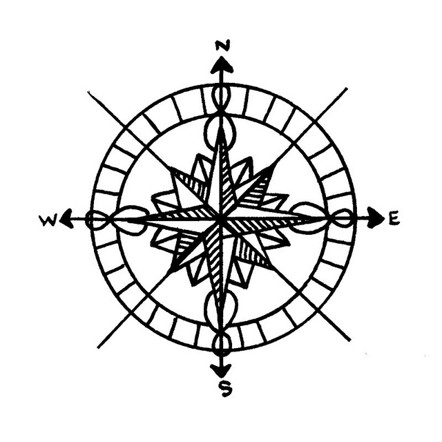 Compass clipart abstract. Pin rose by midnightlynx