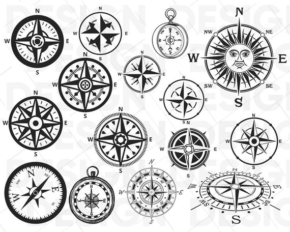 Svg travel files for. Compass clipart adventure