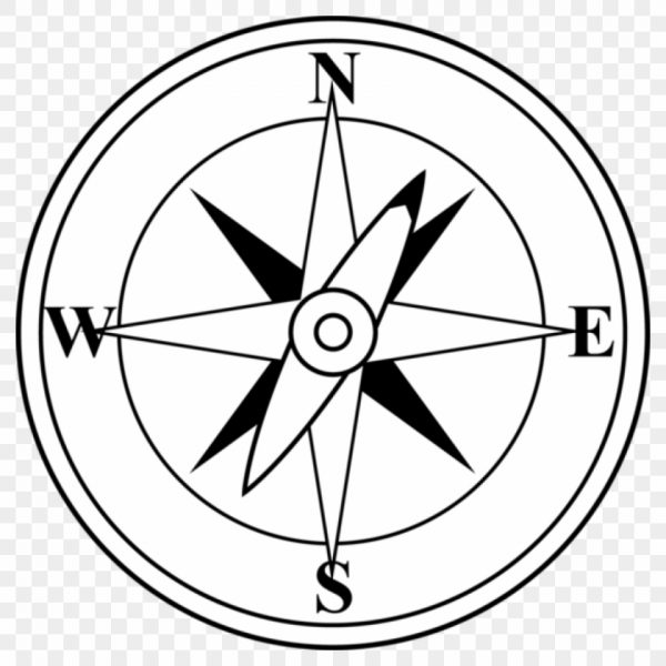 Free clip art . Compass clipart black and white