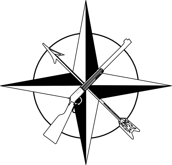 Picture of a rose. Compass clipart black and white