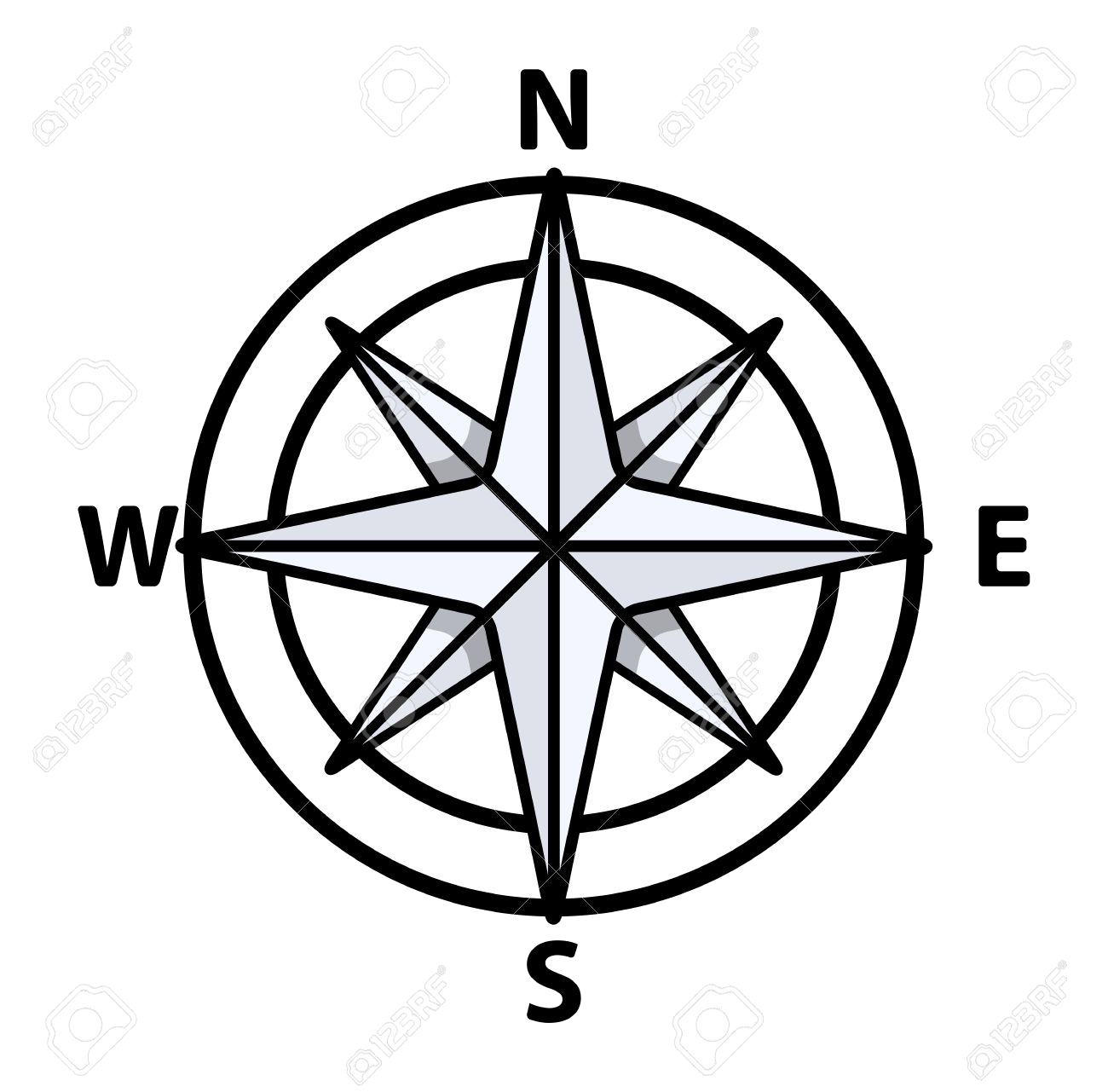 Compass clipart black and white. Free best transparent png