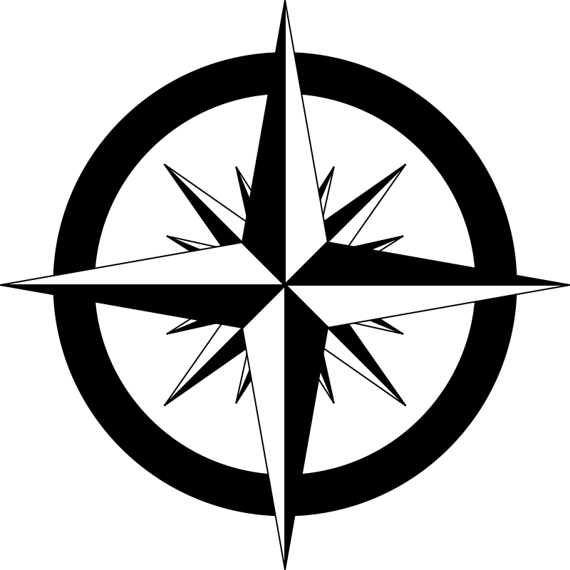 Compass clipart black and white. Rose medium image png