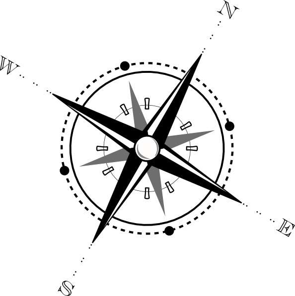 Clip art free vector. Compass clipart black and white