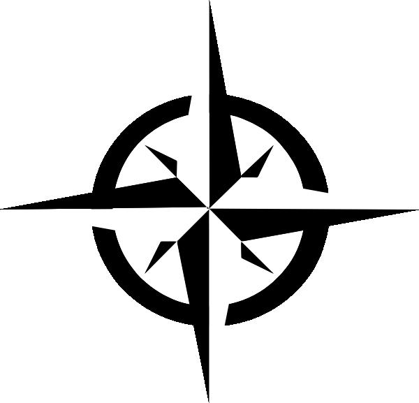 White compass rose clip. Explorer clipart nautical star