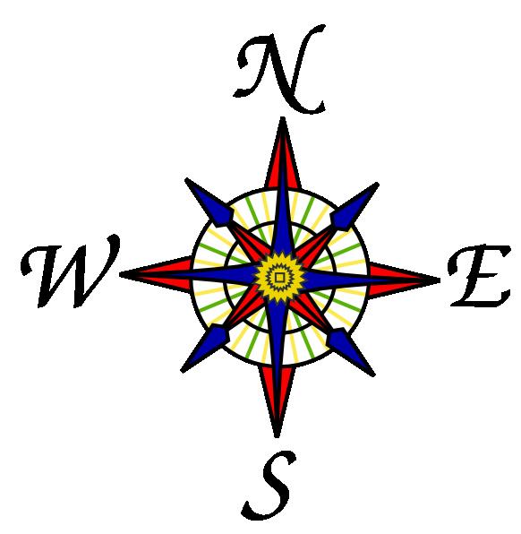 Rose clip art at. Compass clipart cardinal direction