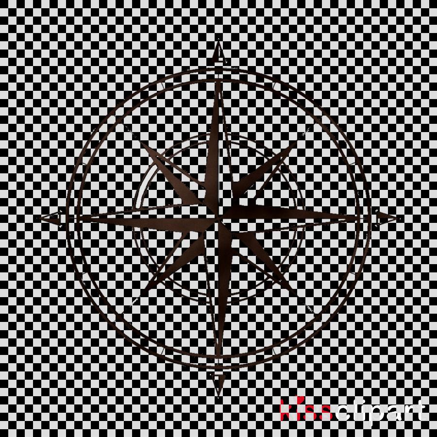 Compass clipart circle compass. Rose art line transparent
