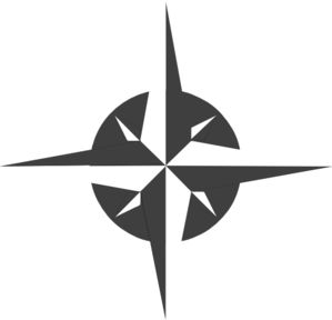 White rose clip art. Compass clipart compass needle