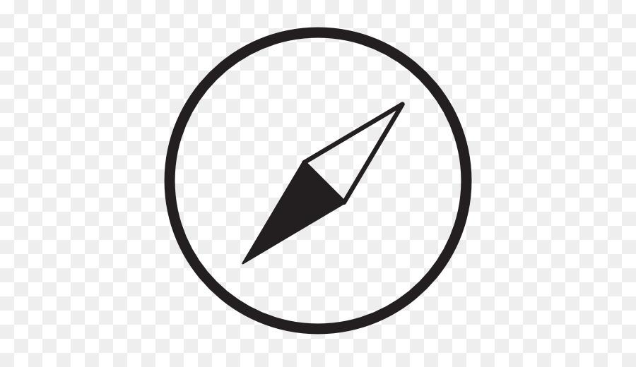 Compass clipart compass needle. White circle black line