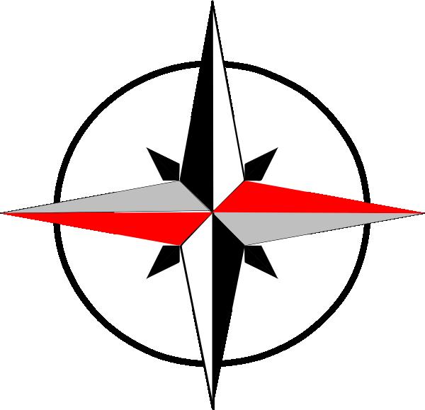 East west final clip. Compass clipart compass needle