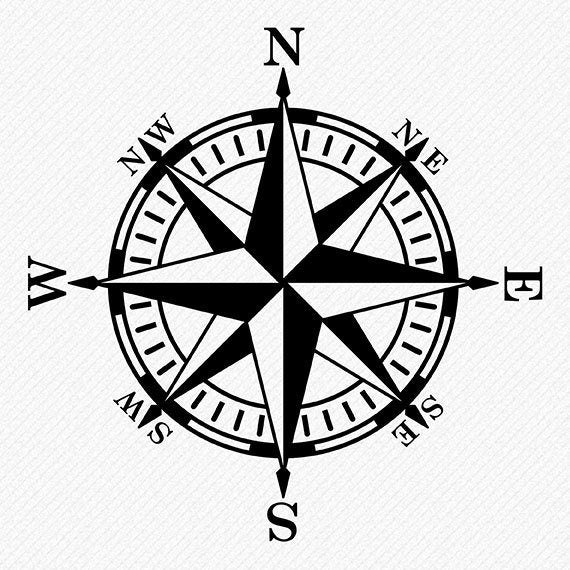 Compass clipart compass rose. Svg files vector and