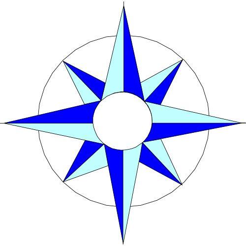 In black and white. Compass clipart compass rose
