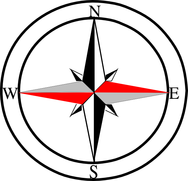 Compass clipart drawing. Red grey clip art