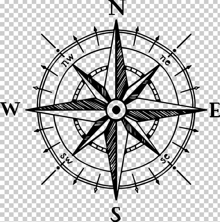 North rose png angle. Compass clipart drawing