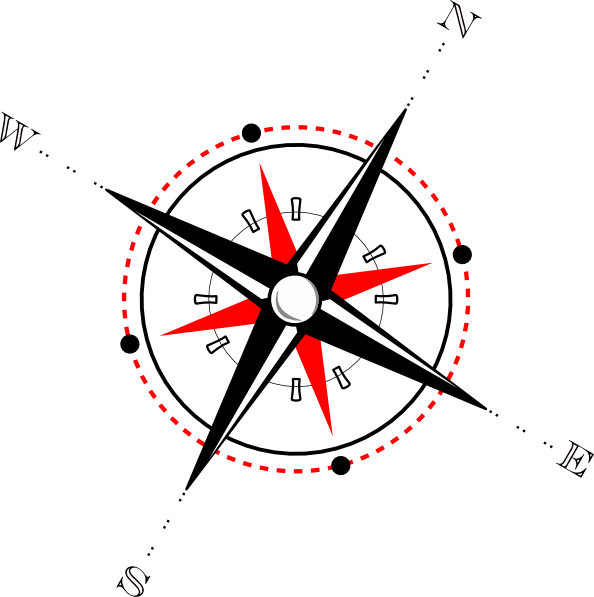 Compass clipart drawing. Red black clip art