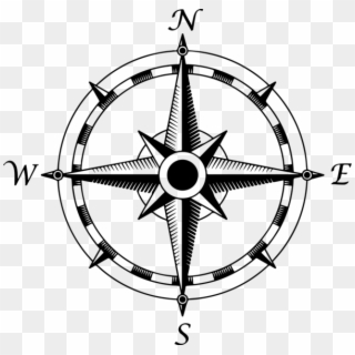 Compass clipart fancy. Rose png transparent for