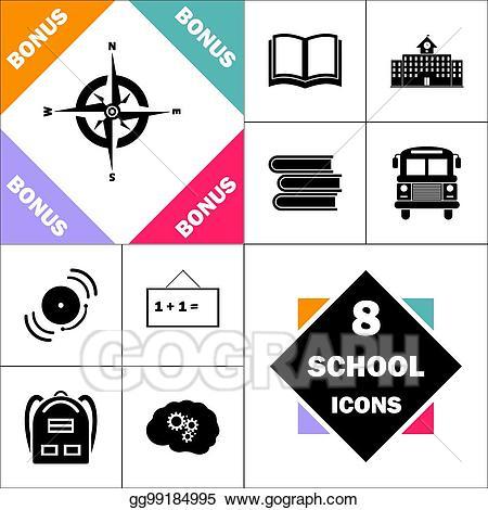 Vector illustration computer symbol. Compass clipart global study