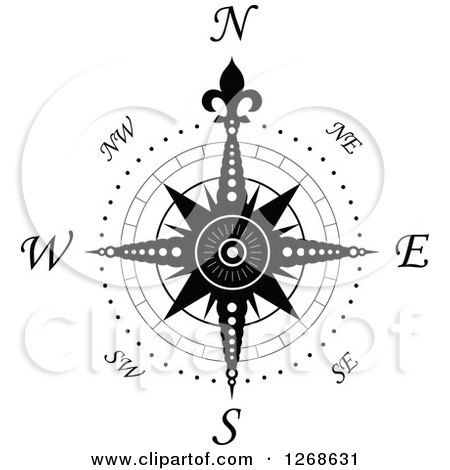 Compass clipart global study. Image result for rose