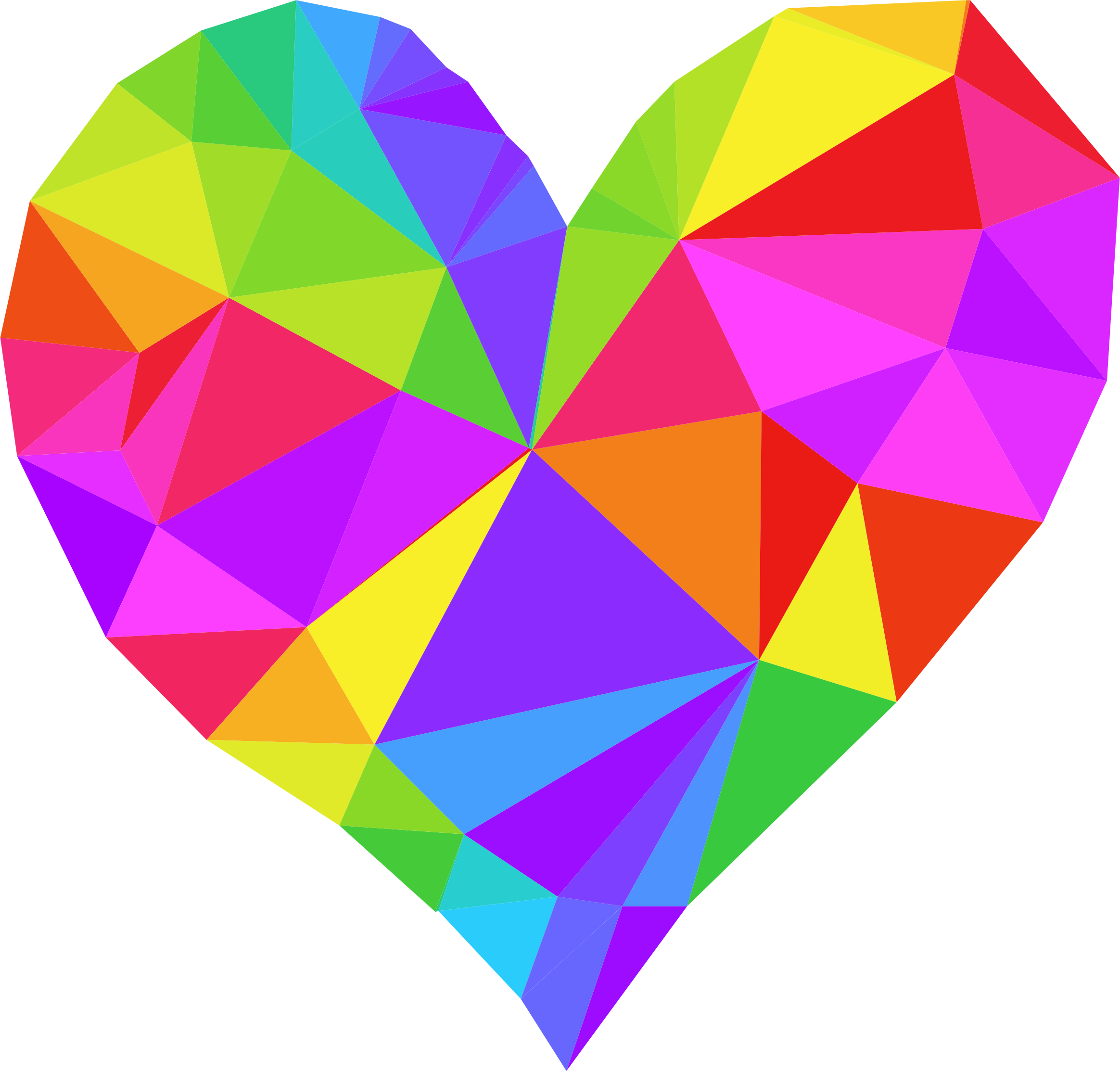 Mailbox clipart heart. Low poly by gdj
