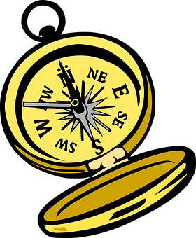 Handheld directions interesting images. Compass clipart magnetic compass