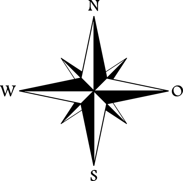 Compass clipart movement geography. Blank rose worksheet image