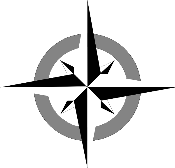 Compass clipart movement geography. Five themes of by